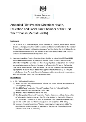 2020-09-14 MHT Amended Pilot Practice Direction.pdf